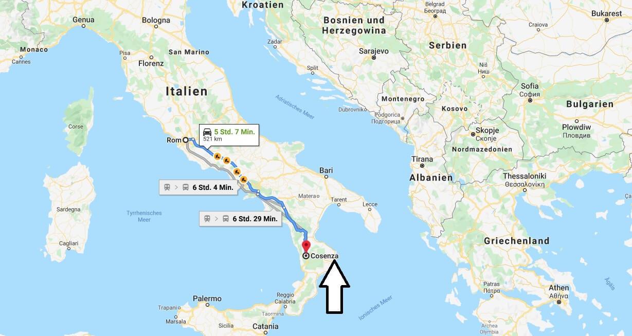 Wo liegt Cosenza? Wo ist Cosenza? in welchem land liegt Cosenza