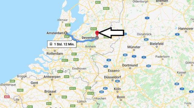 Wo liegt Deventer? Wo ist Deventer? in welchem land liegt Deventer