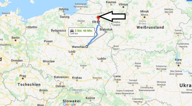 Wo liegt Ełk? Wo ist Ełk? in welchem land liegt Ełk