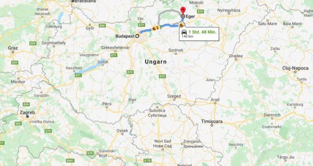 Wo liegt Eger (Ungarn)? Wo ist Eger? in welchem land liegt Eger