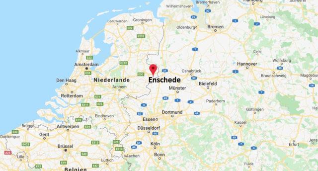 Wo liegt Enschede? Wo ist Enschede? in welchem land liegt Enschede