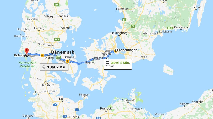 Wo liegt Esbjerg? Wo ist Esbjerg? in welchem land liegt Esbjerg