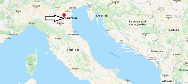 Wo liegt Ferrara? Wo ist Ferrara? in welchem land liegt Ferrara