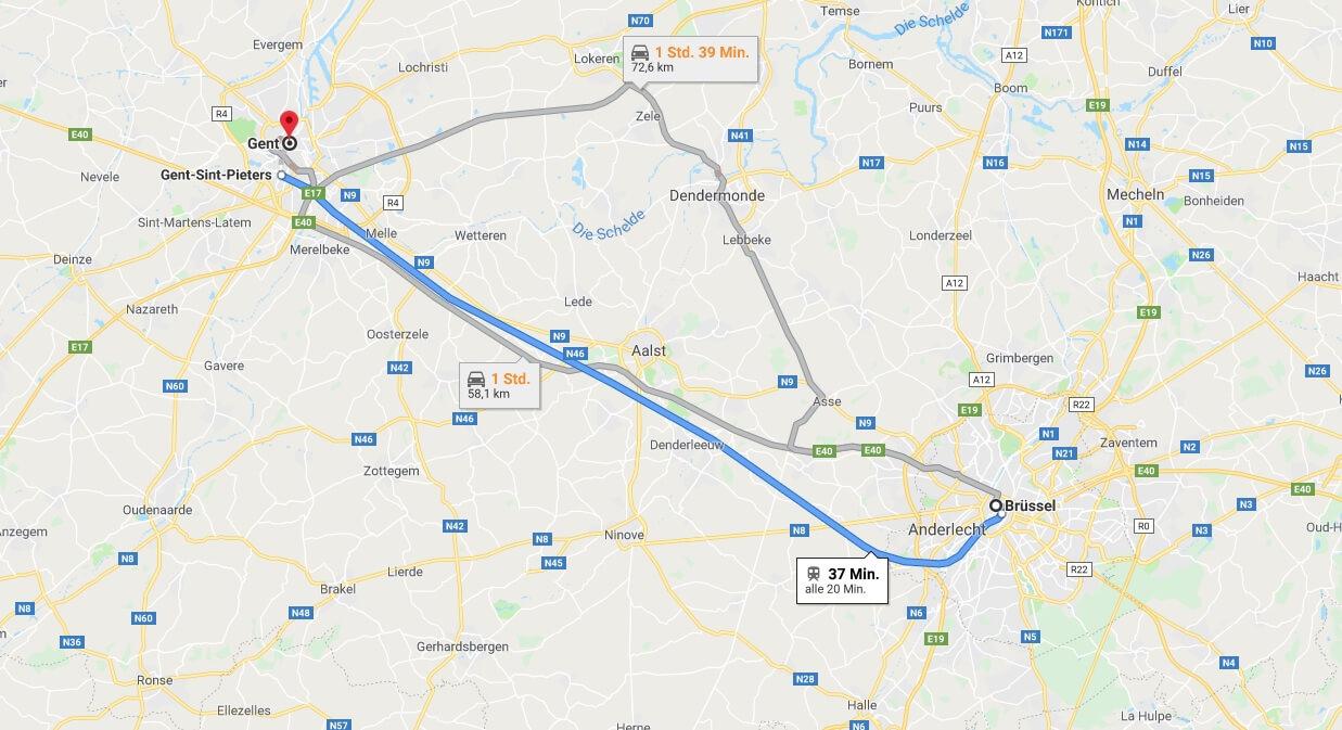 Wo liegt Gent? Wo ist Gent? in welchem land liegt Gent