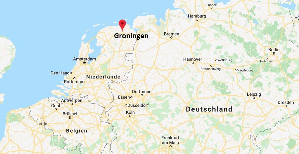 Wo liegt Groningen? Wo ist Groningen? in welchem land liegt Groningen