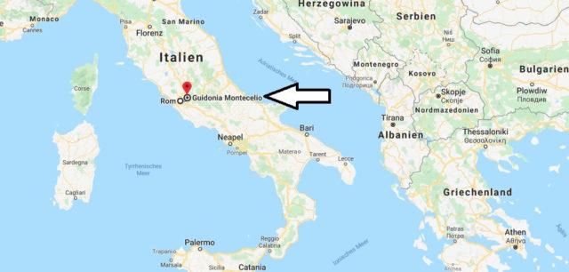 Wo liegt Guidonia Montecelio? Wo ist Guidonia Montecelio? in welchem land liegt Guidonia Montecelio