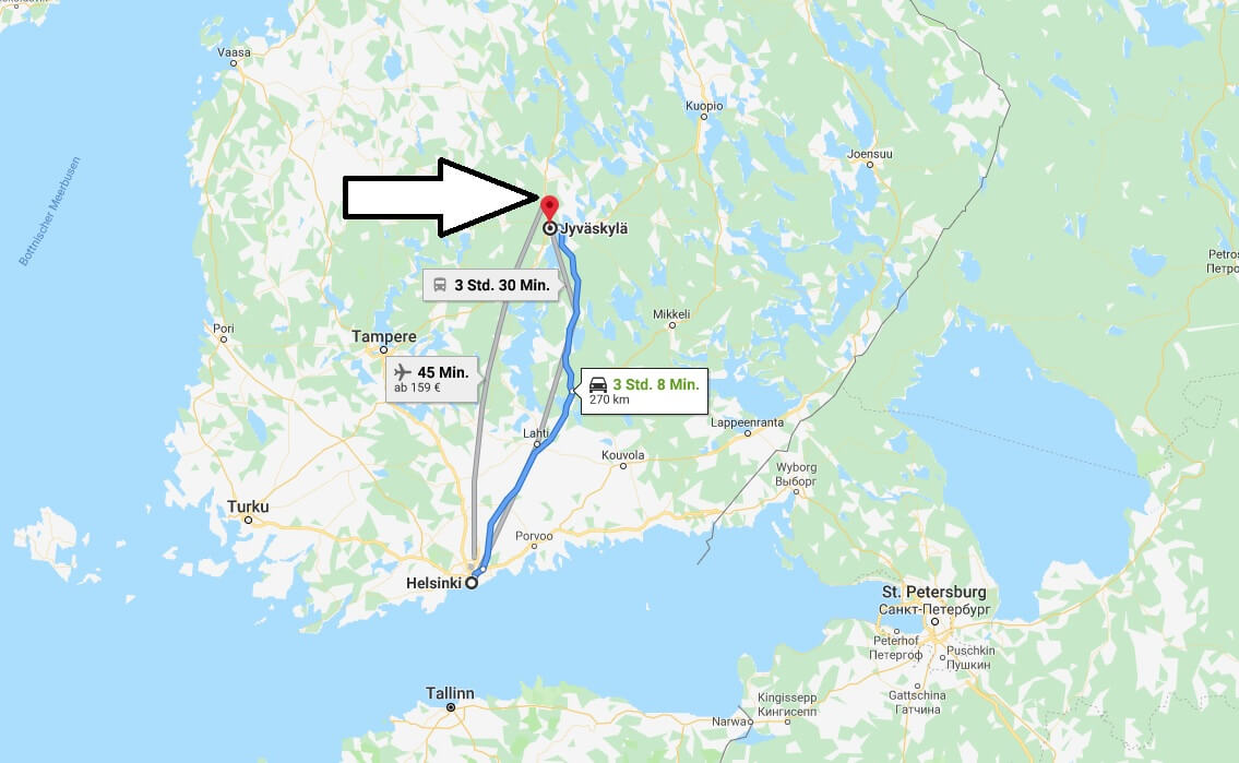 Wo liegt Jyväskylä? Wo ist Jyväskylä? in welchem land liegt Jyväskylä