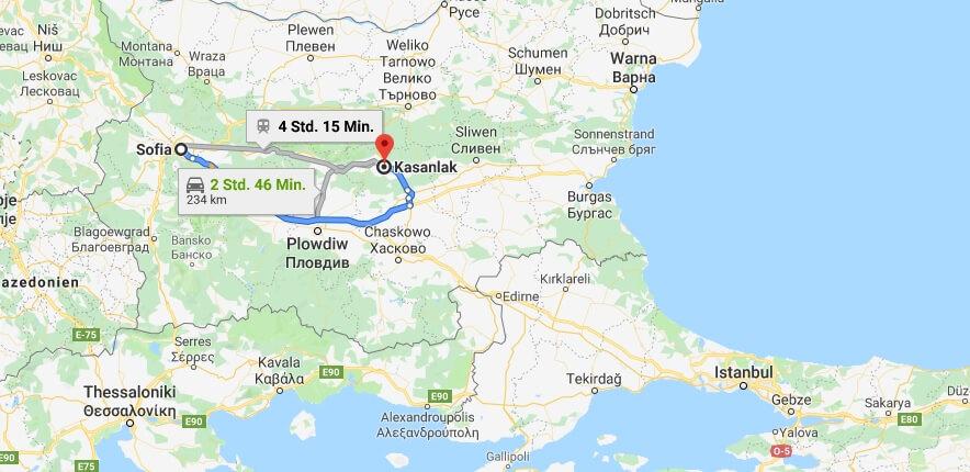 Wo liegt Kasanlak? Wo ist Kasanlak? in welchem land liegt Kasanlak