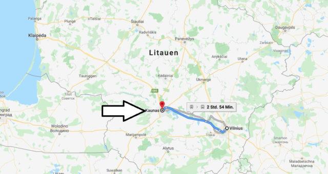 Wo liegt Kaunas? Wo ist Kaunas? in welchem land liegt Kaunas