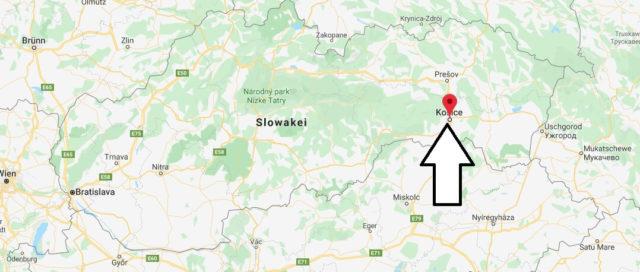Wo liegt Košice? Wo ist Košice? in welchem land liegt Košice