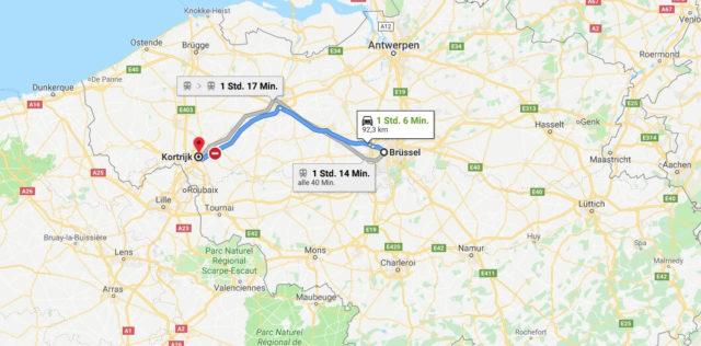 Wo liegt Kortrijk? Wo ist Kortrijk? in welchem land liegt Kortrijk