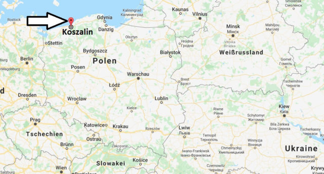 Wo liegt Koszalin? Wo ist Koszalin? in welchem land liegt Koszalin