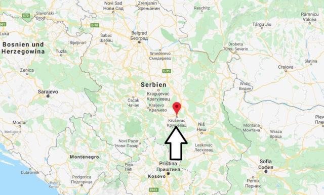 Wo liegt Kruševac? Wo ist Kruševac? in welchem land liegt Kruševac