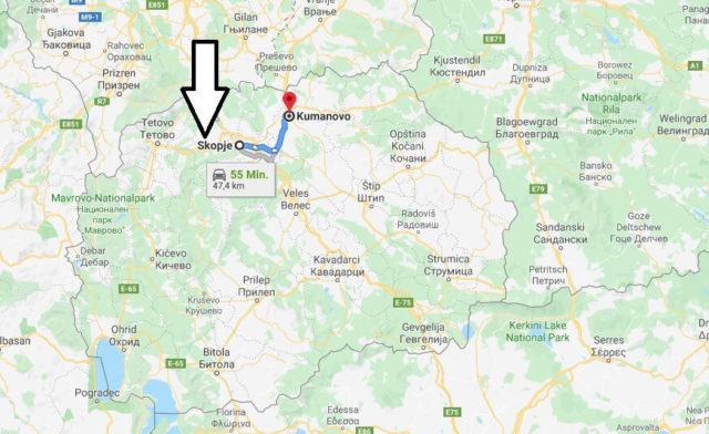 Wo liegt Kumanovo? Wo ist Kumanovo? in welchem land liegt Kumanovo