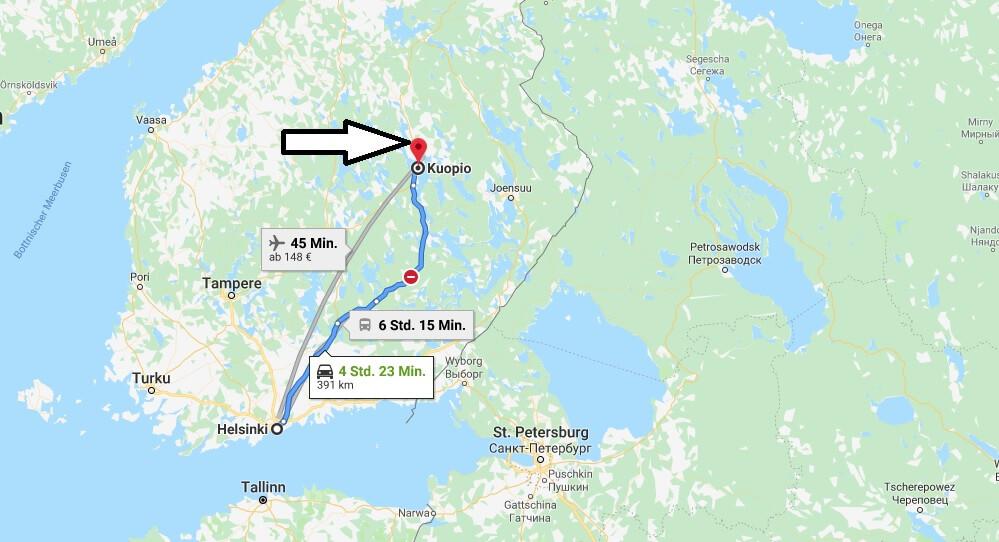 Wo liegt Kuopio? Wo ist Kuopio? in welchem land liegt Kuopio