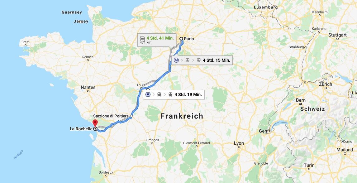 Wo liegt La Rochelle? Wo ist La Rochelle? in welchem land liegt La Rochelle