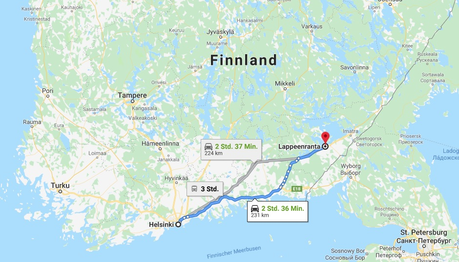 Wo liegt Lappeenranta? Wo ist Lappeenranta? in welchem land liegt Lappeenranta