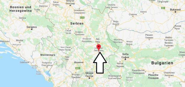 Wo liegt Leskovac? Wo ist Leskovac? in welchem land liegt Leskovac