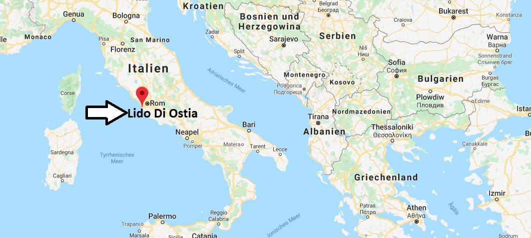 Wo liegt Lido Di Ostia? Wo ist Lido Di Ostia? in welchem land liegt Lido Di Ostia