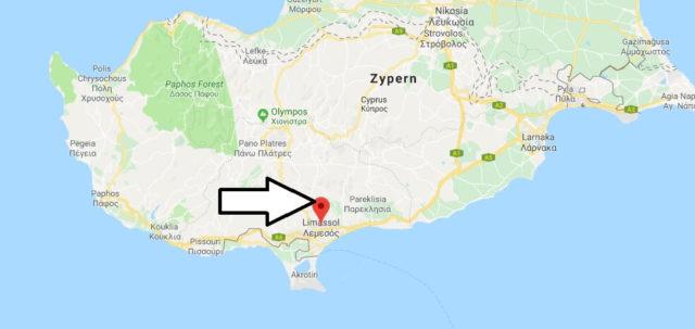 Wo liegt Limassol? Wo ist Limassol? in welchem land liegt Limassol