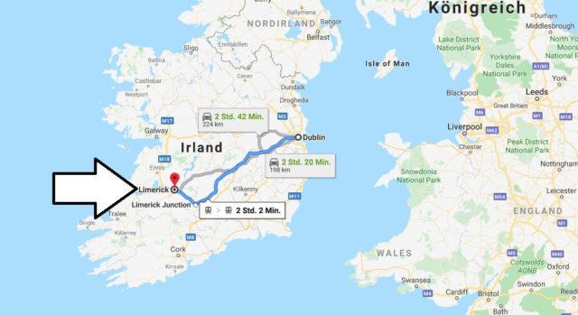 Wo liegt Limerick? Wo ist Limerick? in welchem land liegt Limerick