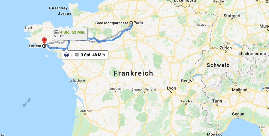 Wo liegt Lorient? Wo ist Lorient? in welchem land liegt Lorient