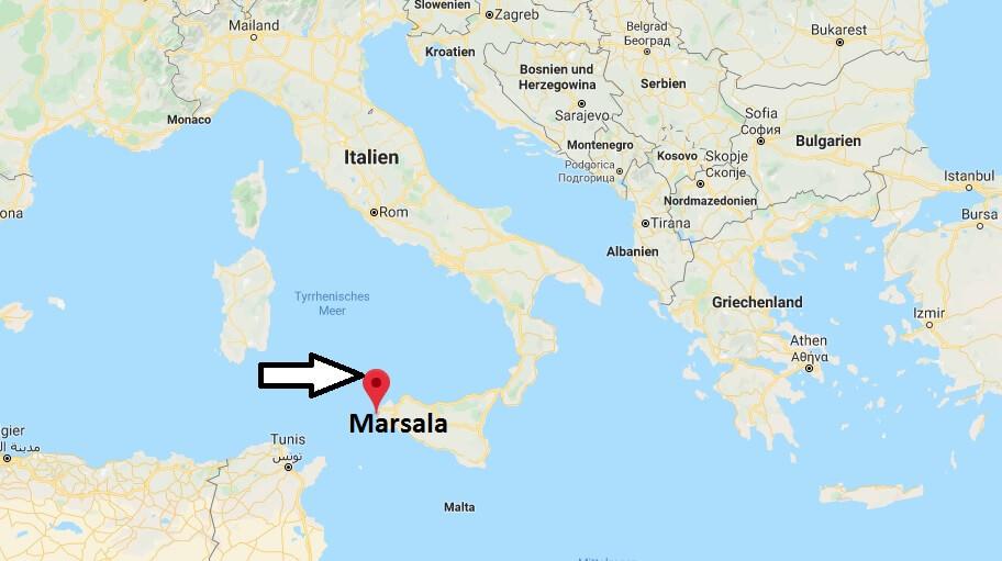 Wo liegt Marsala? Wo ist Marsala? in welchem land liegt Marsala
