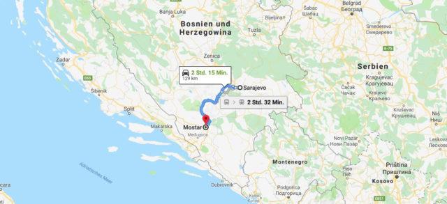 Wo liegt Mostar? Wo ist Mostar? in welchem land liegt Mostar