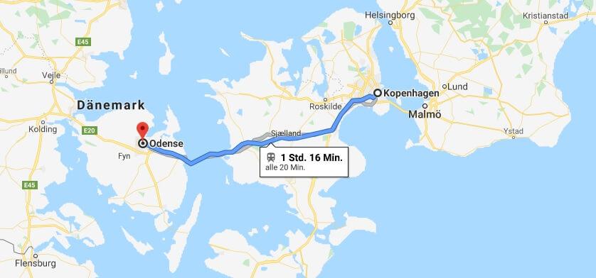 Wo liegt Odense? Wo ist Odense? in welchem land liegt Odense