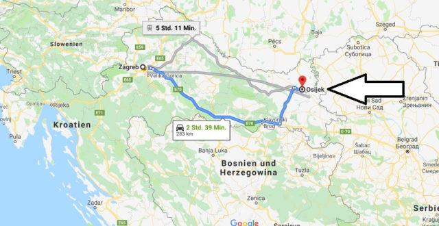 Wo liegt Osijek? Wo ist Osijek? in welchem land liegt Osijek