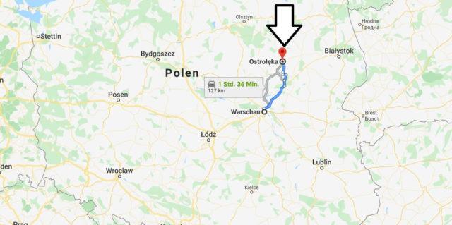 Wo liegt Ostrołęka? Wo ist Ostrołęka? in welchem land liegt Ostrołęka