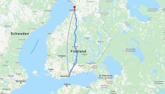 Wo liegt Oulu? Wo ist Oulu? in welchem land liegt Oulu