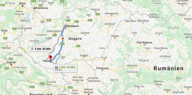 Wo liegt Pécs? Wo ist Pécs? in welchem land liegt Pécs