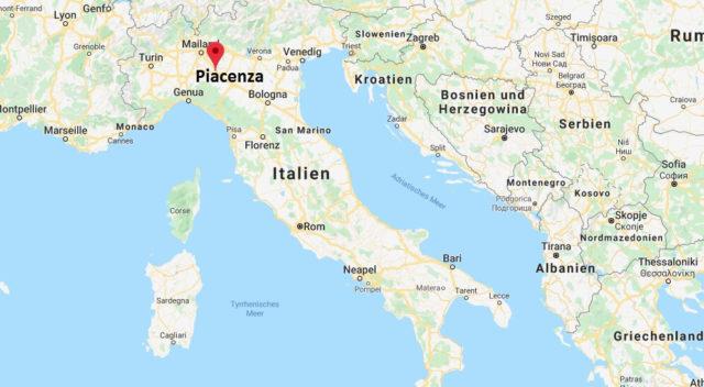 Wo liegt Piacenza? Wo ist Piacenza? in welchem land liegt Piacenza