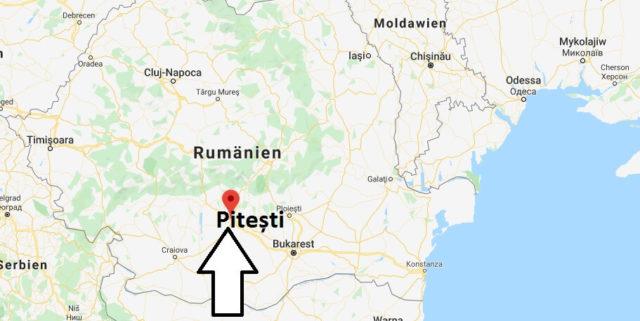 Wo liegt Pitești? Wo ist Pitești? in welchem land liegt Pitești