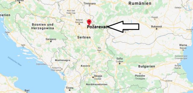 Wo liegt Požarevac? Wo ist Požarevac? in welchem land liegt Požarevac