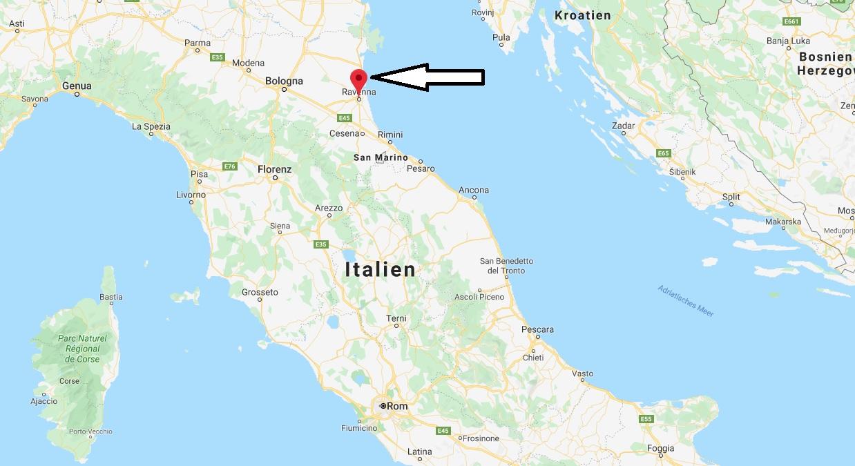 Wo liegt Ravenna? Wo ist Ravenna? in welchem land liegt Ravenna