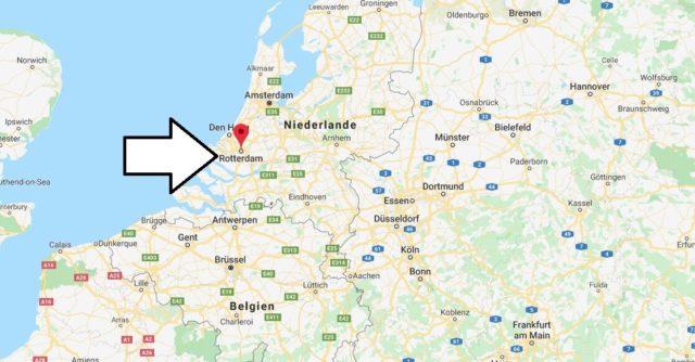 Wo liegt Rotterdam? Wo ist Rotterdam? in welchem land liegt Rotterdam