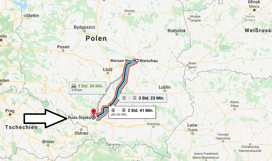 Wo liegt Ruda Śląska? Wo ist Ruda Śląska? in welchem land liegt Ruda Śląska