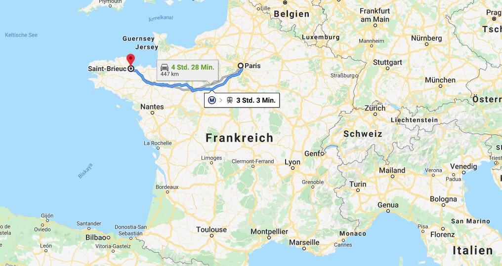Wo liegt Saint-Brieuc? Wo ist Saint-Brieuc? in welchem land liegt Saint-Brieuc