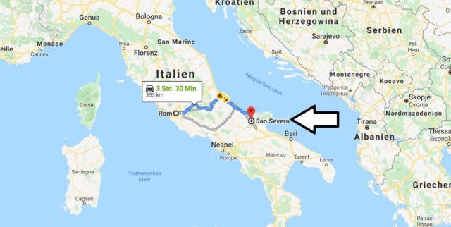 Wo liegt San Severo? Wo ist San Severo? in welchem land liegt San Severo