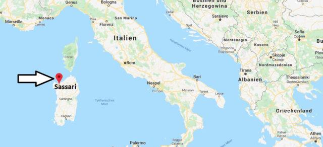 Wo liegt Sassari? Wo ist Sassari? in welchem land liegt Sassari