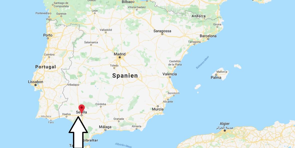 Wo liegt Sevilla? Wo ist Sevilla? in welchem land liegt Sevilla