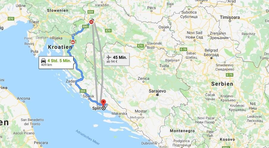 Wo liegt Split? Wo ist Split? in welchem land liegt Split