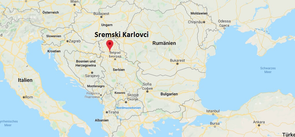 Wo liegt Sremski Karlovci? Wo ist Sremski Karlovci? in welchem land liegt Sremski Karlovci