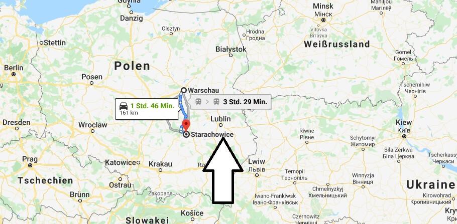 Wo liegt Starachowice? Wo ist Starachowice? in welchem land liegt Starachowice