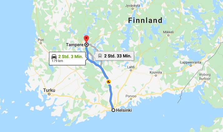 Wo liegt Tampere? Wo ist Tampere? in welchem land liegt Tampere