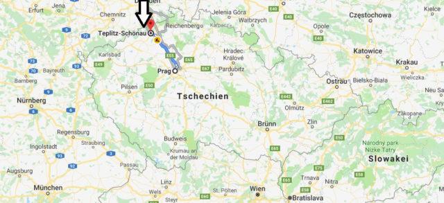 Wo liegt Teplitz-Schönau? Wo ist Teplitz-Schönau? in welchem land liegt Teplitz-Schönau