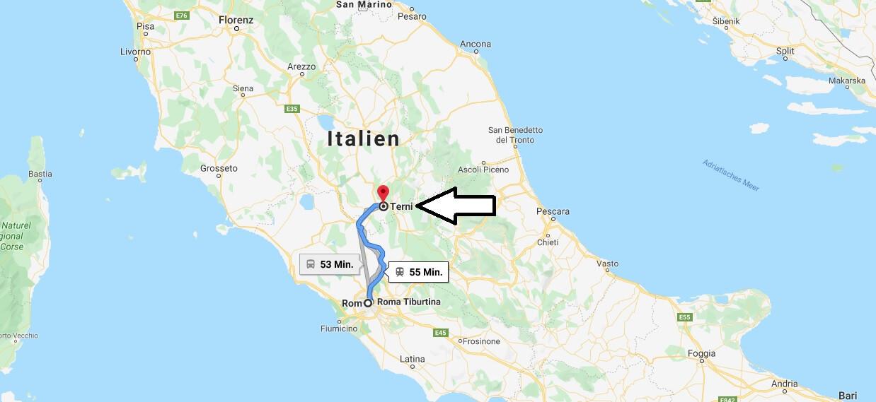 Wo liegt Terni? Wo ist Terni? in welchem land liegt Terni