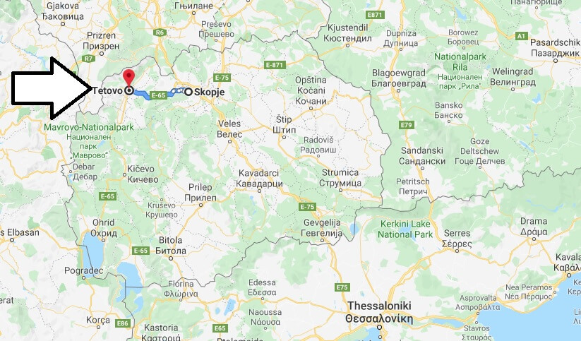 Wo liegt Tetovo? Wo ist Tetovo? in welchem land liegt Tetovo
